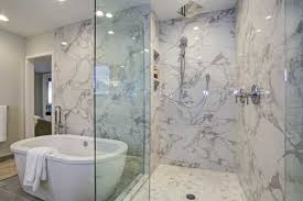 cleaning marble showers tubs
