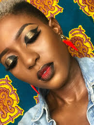 tv host and makeup artist lerny lomotey is back with yet a new tutorial video on how to create a glitter black cut crease makeup look