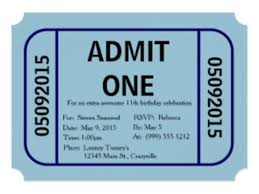 3 Admit One Invitation Template Admit One Ticket Invitation