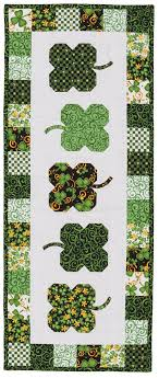 Luck O' the Irish - Table Runner - Fons & Porter - The Quilting ... & Luck O' the Irish - Table Runner Quilt Patterns Adamdwight.com