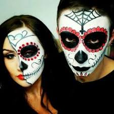 sugar skull face paint men google search day of the dead makeup men google search half stapled skull day of the dead makeup tutorial