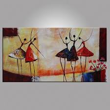 Living Room Art Paintings Aliexpresscom Buy Abstract Ballet Dancer Oil Painting On Canvas