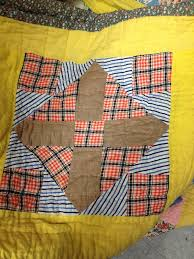 How to Make a Quilt from Old Clothes: Inspiration & More & ... vintage quilt block with plaid Adamdwight.com