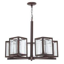 5 light oil rubbed bronze chandelier with etched clear