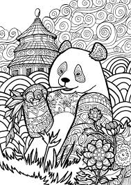 Small Picture panda coloring pages giant panda coloring pages zoo animals