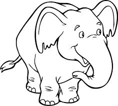 Simpatico Elefante Da Colorare Per Bambini Disegni Da Colorare E