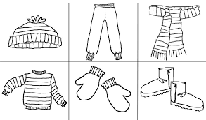 Small Picture Coloring Pages Winter Clothes Coloring Pages