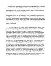 analysis essay ms fox ap language and composition  2 pages the company man essay
