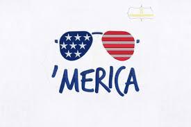 Fourth Of July Merica Glasses Creative Fabrica