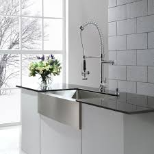 KRAUS Commercial-Style Single-Handle Kitchen Faucet with Pull Down  Pre-Rinse Sprayer - Free Shipping Today - Overstock.com - 11345091