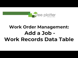 Work Order Management Add A Job From The Work Records Data Table