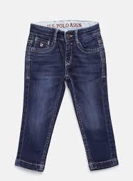 U S Polo Assn Kids Blue Slim Fit Stretchable Jeans