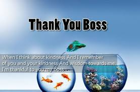 Thank You Note To Boss Appreciation Letter To Boss Manager Or Employer