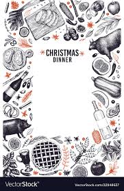 dinner template happy christmas dinner design template