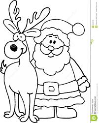 Santa Claus And Reindeer Drawings Images