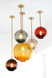 colored glass pendant lights surprising custom hand crafted fused and