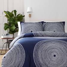 marimekko fokus blue full queen duvet cover set