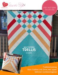 Contemporary Quilt Patterns Adorable Quilt Pattern Trellis Beginner Modern Quilt Sewn Up
