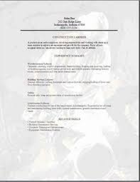 resumes for excavators   construction worker resume   resumes    cement mason resume   construction worker resume