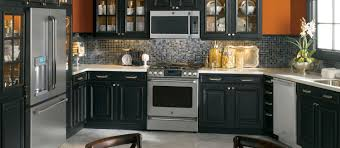 Distressed Kitchen Cabinets Cabinets Drawer Kitchen Cabinets Black Appliances With