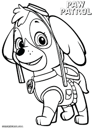 Coloring Pages Chase Paw Patrol Coloring Pages Super Sheets Spy