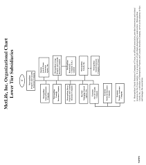 Organizational Structure Of Metlife Inc And Subsidiaries