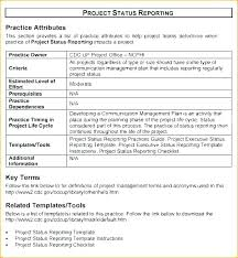 One Page Report Template Monthly Training Progress Simple