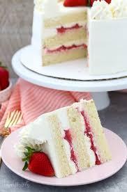 Peanut Butter Strawberry Jam Cake