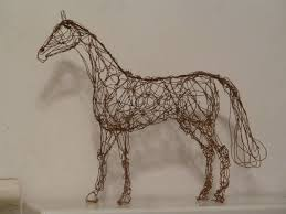Wire Art Wire Art Copper Wire Sculpture Of A Standing Horse By Choccy Uk