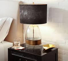 inspiring glass floor lamp shades on top of a small wooden table in the bedroom unique