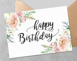 Printable Birthday Card Etsy