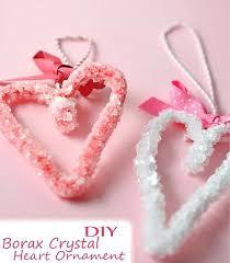 glass hearts ornaments borax crystal heart ornament easy valentine kid heart shaped mercury glass ornaments