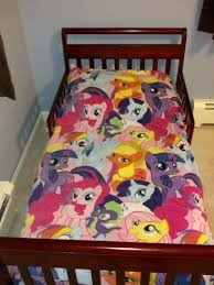 my little pony toddler bed set by