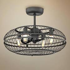 flush mount caged ceiling fan. Outdoor Caged Ceiling Fan With Light Vintage Breeze 1 Cage . Flush Mount