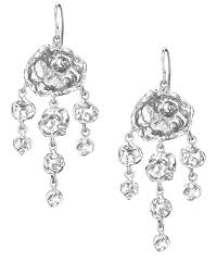 cornish designer jelly fish sterling silver handmade chandelier earrings from cornwall uk