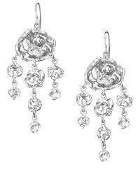 cornish designer jelly fish sterling silver handmade chandelier earrings from cornwall uk