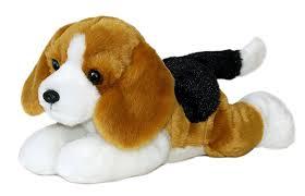 amazoncom buddy bean filled beagle flopsie  by aurora toys