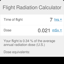 Sievert Dose Chart Flight Radiation Calculator Omni
