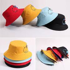 Dinosaur Double-sided Baby Hat <b>Spring Summer Bucket</b> Hat <b>Kids</b> ...