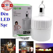 Bóng đèn LED sạc tích điện 48W DP-7814 với 3 chế độ sáng 9-16 tiếng, chống  nước, dùng khi mất điện, bán hàng, công việc hoặc cắm trại ngoài trời... DP