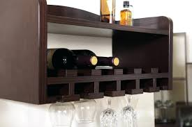 wine glass holder shelf combination wall mounted wooden wine rack glass holder shelf with regard to wine glass holder