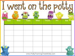 Potty Chart Printable Potty Chart Potty Training Boys