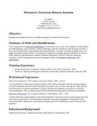 Electronic Technician Resume Examples Electronic Technician Resume