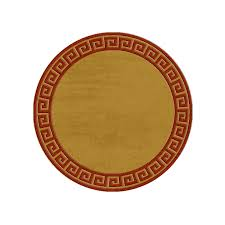 greek key round or oval rug any size in 96 colours