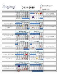 Calendar Crowder College