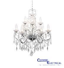 vela 9 light chandelier for bathroom