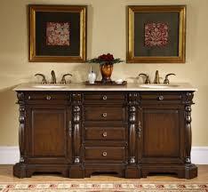 72 inch double sink bathroom vanity with travertine countertop uvsr017672