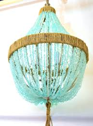 aqua sea glass chandelier orb beach bermuda empire pebbles interiors bathroom light fixture corbett lighting chandeliers neopets coastal living dining room