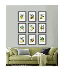 kitchen wall decor fruits botanical prints set of within fruit art inspirations 10