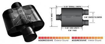 Muffler Size Chart Flowmaster Super 10 Series Muffler